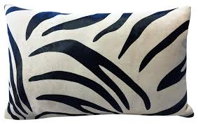 Decorative Pillows With Feather Design Inspiration Genuine Down Feather Zebra Hide Accent Pillow Contemporary
