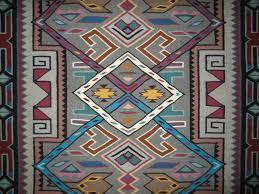 Interesting Storm Pattern Navajo Rug Weaving Mae Jean Chester Navajo