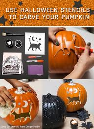 use stencils to carve your pumpkin