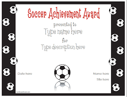 Soccer Award Certificate Templates Free Free Printable Award ...