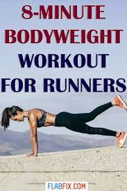 8 minute bodyweight home workout for