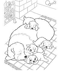 A happy dog in its wooden house. Dog And Puppy Coloring Pages Puppy Coloring Pages Animal Coloring Pages Dog Coloring Page