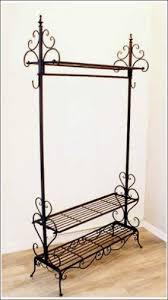 wrought iron indoor furniture. multifunction made in wrought iron coat hanger rack clothing storage shelf furniture sturdy indoor