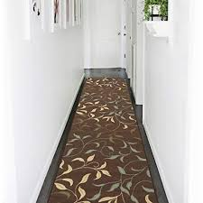 Image Carpet Runners Ottomanson Ottohome Collection Contemporary Leaves Design Modern Hallway Runner Rug 27 Amazoncom Hallway Carpet Amazoncom