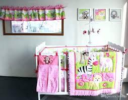 girl baby bedding sets monkey baby bedding zebra giraffe monkey embroidery girl baby bedding sets quilt girl baby bedding