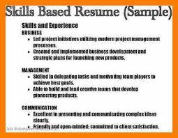 8 Resume Skill List Example Activo Holidays