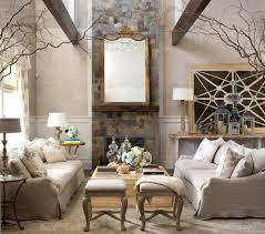 Art Deco Living Room With An Old Style Mirror Livinator - Livingroom deco