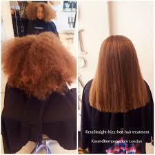 kerastraight frizzy hair brazilian out keratin hair treatments at kay and kompany salons in