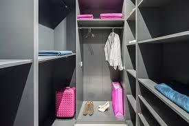 small diy walk in wardrobe grey shelves