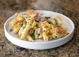 baked penne with ham  peas  and jack cheese