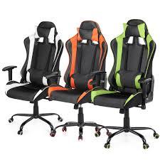 Ergonomic Computer Desk White Ikayaa Ergonomic Racing Gaming Office Computer Desk Chair