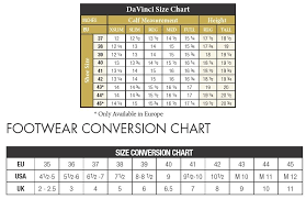 Tredstep Da Vinci Field Boot Size Chart