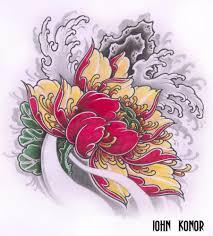 фото эскизы лотос в стиле япония татуировки на руке Rustattooru