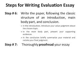 Evaluative Essay Topics Evaluation Essay Lecture 14 Recap How To Write An Argumentative