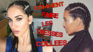 Comment Faire 4 Tresses Collees Youtube