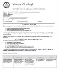 Staff Performance Appraisal Form Evaluation Template Free ...