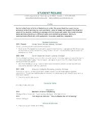 Student Resume Samples No Experience Entry Level Data Entry Resume