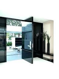 modern glass entry door front black inserts