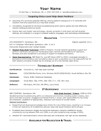 Help Desk Tech Resume
