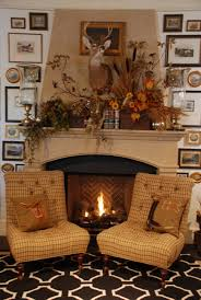 rock fireplace with decorating mantels