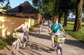 Most notably and visually recognisable are nonnberg abbey, mirabell palace gardens, domplatz and residenzplatz. A Singalong Sound Of Music Bike Tour Through Salzburg Wsj