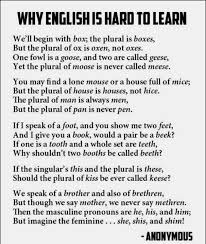 a clever why english is hard to learn poem oh the funny lack a clever why english is hard to learn poem oh the funny