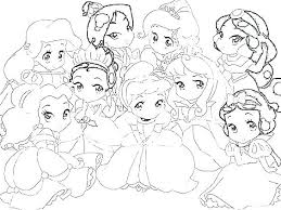 Easy Coloring Pages For Babies Tangled Colouring Pages Baby Princess