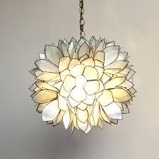 capiz flower chandelier lotus with shell full size