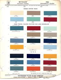 Paint Chips 1964 Truck Fleet Commercial Paint Charts