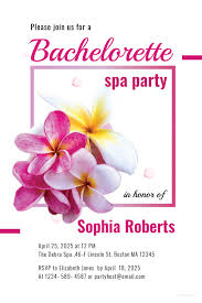 10 Spa Party Invitations Free Sample Example Format Download Spa