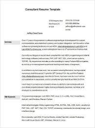 Risk Consultant Resume Template