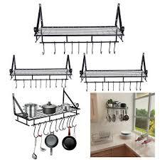 iron kitchen cookware organiser rack