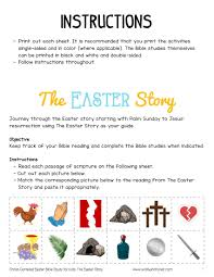 Christ Centered Easter Bible Study For Kids Printable