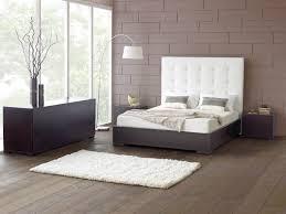 Minimalist Modern Bedroom Easy Minimalist Bedroom Idea With Tufed Headboard Of Double Bed