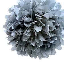 Tissue Paper Pom Poms Flower Balls 16 Silver Tissue Paper Pom Poms Flowers Balls Decorations 4 Pack