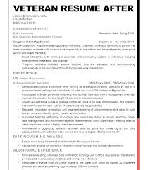 Resume For Veterans Llun New Veteran Resume