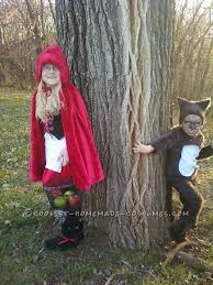 these little red riding hood and the big bad wolf were the first costumes i made i got with both the kids and asked them what they want to be
