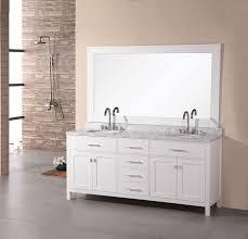 design element london double 72 inch modern bathroom vanity set white
