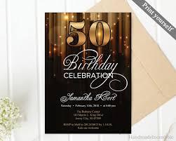 50th Birthday Invitations Templates 005 Template Ideas 50th Birthday Invitation Templates