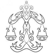 Vektorová Grafika Váhy Tattoo Inkoust Skica 112464606 Fotobanka