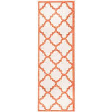 amherst beige orange 2 ft x 9 ft indoor outdoor runner rug