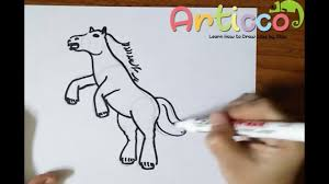 rearing horse drawing step by step. Unique Drawing How To Draw A Rearing Horse Step By For Beginner For Drawing By