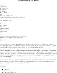 Phlebotomy Cover Letter Simple Phlebotomy Cover Letter Sample Cover Letter No Experience Cover