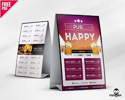 Download Beer Cafe Tent Card Free Psd Psddaddy Com