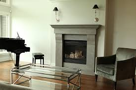 grey stone fireplace surrounds round designs