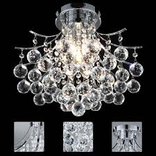 modern crystal 3 light ceiling light chandelier lamp pendant fixture ul listed