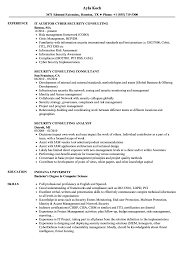 Security Consulting Resume Samples Velvet Jobs