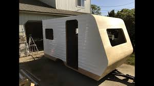Diy travel trailer Homemade How To Build Diy Travel Trailer Part 33 installing The Siding Part 1 Beaeus How To Build Diy Travel Trailer Part 33 installing The Siding