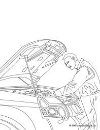 Mechanic Job Coloring Page Amazing Way