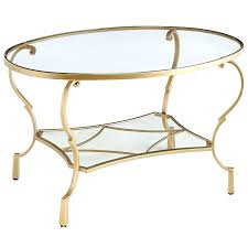 glass oval coffee tables oval glass coffee table with brass legs